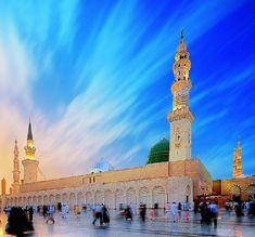 Medina Mosque, Most Beautiful, Beautiful Places, Islamic Status, New Whatsapp Status, Islamic Images, Music Labels, Madina, Statue Of Liberty