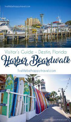 Destin Harbor Boardwalk - Destin - Florida - things to do Destin Florida Vacation, Destin Beach, Florida Travel, Florida Beaches, Beach Trip, Mexico Travel, Sandestin Florida, Miramar Beach Florida, Navarre Beach Florida