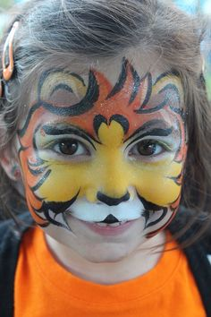 Lion Cub || Fanciful Faces, Chicago Face Painting - Chantal Rushing