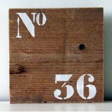 Bordje 'No 36'