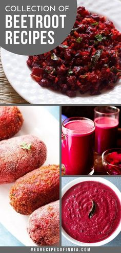 collection of 15 beetroot recipes - collection of indian beetroot recipes like side dishes, sabzis and sweets. Mushroom Recipes Indian, Indian Food Recipes, Curry Recipes, Vegetable Recipes, Cooking Dishes, Cooking Recipes, Healthy Dinners, Healthy Recipes, Main Dishes