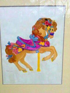 Carousal Horse (watercolor)