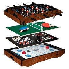 Franklin Deluxe 6 In 1 Table Game