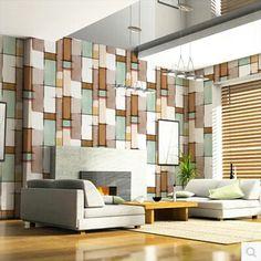 papel de parede para sala de tv colorida