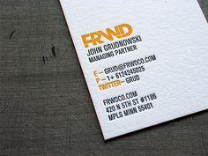 Nice letterpress business card.