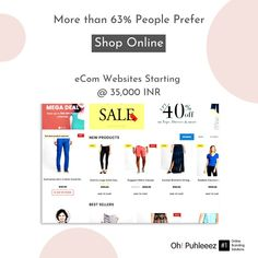 More than 63% People prefer to Shop Online. Get you Brand an eCom Store starting @ 35,000 INR. ☎️ 9999848160 @ohpuhleeez.digitalmarketing  An ecommerce marketplace is a website where the products are provided by several third parties while the transactions are processed by the marketplace itself. The transaction is processed by the marketplace and then the order is fulfilled by the chosen retailer or dropshipper.  #onlinebusiness #onlineshopping #business #entrepreneur #onlinemarketing… Business Entrepreneur, Online Marketing, Ecommerce, Online Business, Third, Online Shopping, Parties, Website, Store