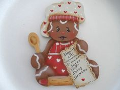 "HP Gingerbread ""Ginger Baker"" Wood Magnet"