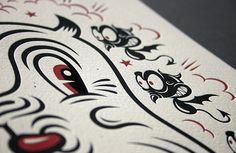 """Beast"" Letterpress Print"