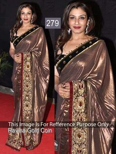 Brown Silk New Saree Indian Party Wear Designer (Free Shiping)  Buy now http://www.ebay.in/itm/Bollywood-Brown-Silk-Saree-Indian-Party-Wear-Designer-New-Pakistani-Sari-O10-/151801954756