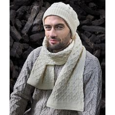 West End Knitwear Natural Honeycomb Merino Wool Scarf ($23) ❤ liked on Polyvore featuring accessories, scarves, merino wool scarves, merino wool shawl, merino shawl and honey comb