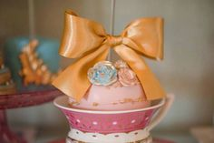 Chocolate Covered Apple from a Marie AntONEette Inspired 1st Birthday Party via Kara's Party Ideas KarasPartyIdeas.com (32)