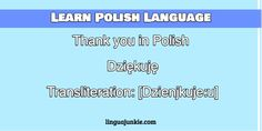 thank you in polish