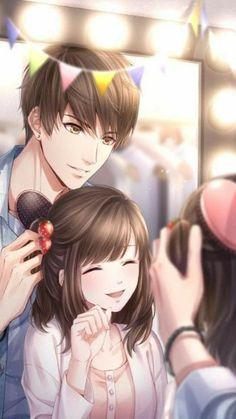 Anime Kawaii, Anime Cupples, Fanarts Anime, Anime Guys, Couples Anime, Romantic Anime Couples, Art Anime Fille, Anime Art Girl, Anime Couple Romantique