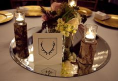 wedding reception table sign centerpiece game of thrones