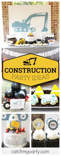 Check out this fantastic Construction birthday party. The cookies are so much fun!! See more party ideas and share yours at CatchMyParty.com