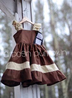 Star Wars Chewbacca Inspired Dress by APoshPumpkin on Etsy, $35.00