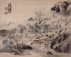Yosa Buson - Spring Landscape (Edo Period)