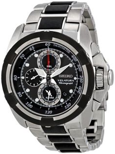 Seiko Men's SNAA93 Dark Grey Dial Velatura Watch * Learn more by visiting the image link.