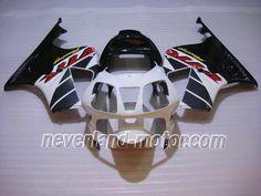 Carenado de ABS de Honda VTR1000 RC51 2000-200 - Blanco/Negro