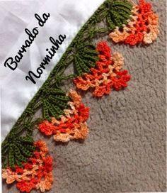 crochet pegadores - Pesquisa Google: Crochet Boarders, Crochet Squares, Crochet Trim, Love Crochet, Filet Crochet, Crochet Motif, Crochet Designs, Crochet Doilies, Crochet Flowers