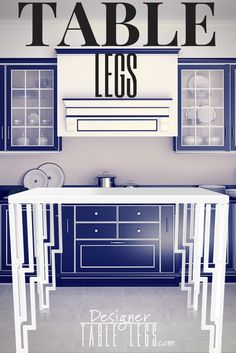 White Art Deco Table Legs   Metal Table Legs   DIY Furniture Ikea Hacks