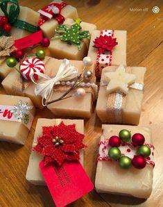 Christmas Present Wrap, Christmas Gift Wrapping, Christmas Presents, Christmas Time, Holiday Gifts, Christmas Crafts, Christmas Decorations, Christmas Ornaments, Handmade Christmas