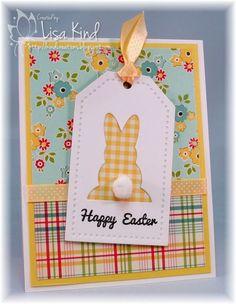 Kind Creations: Just Us Girls - Technique Challenge Diy Easter Cards, Easter Greeting Cards, Greeting Cards Handmade, Easter Crafts, Handmade Easter Cards, Paper Cards, Diy Cards, Somebunny Loves You, Karten Diy