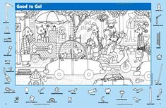 Adult Coloring, Coloring Books, Highlights Hidden Pictures, Hidden Images, Hidden Objects, Phonics, Diy And Crafts, Road Trip, Cartoon