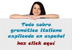 Todo sobre gramática italiana explicado en español