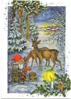 Swedish Christmas, Christmas Elf, Christmas Humor, Vintage Christmas, Christmas Cards, Christmas Things, Holiday, Elves And Fairies, Beautiful Christmas