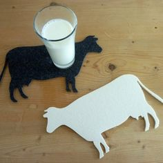 Filzuntersetzer Kuh
