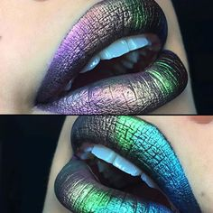 Metallic Ombré Lips  by @mermaid_vixen_  using @makeupgeekcosmetics &…