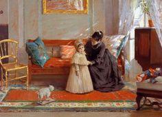 William Merritt Chase - I Am Going To See Grandma