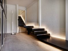 stairs with light