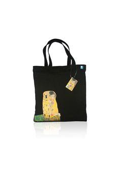 Klimt 'The Kiss' Handmade Canvas Women Tote Bag, Women Tote, Canvas Tote, Womens Tote Bag, Canvas Bag, Art Bag, Valentine's Day Gift, Print by BlueBurton on Etsy https://www.etsy.com/listing/218018874/klimt-the-kiss-handmade-canvas-women