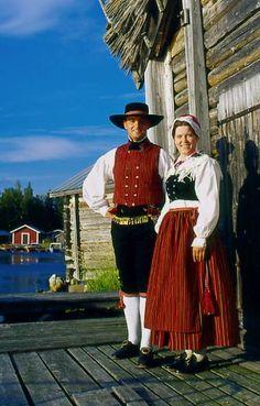 Bergö, Österbotten Folkdräkter - Dräktbyrå - Brage Folk Costume, Costumes, Norway Sweden Finland, Swedish Traditions, Ethnic Dress, People Of The World, Helsinki, Traditional Dresses, Sketching