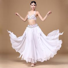 316778383 Women Stage   Dance Wear Oriental Dance Sequined Beaded Bra and Belt  Bellydance Suit Costumes for Belly Dance