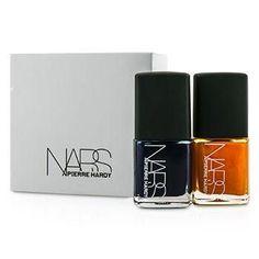 Pierre Hardy Ethno Run Nail Polish Duo (1x Dark Blue, 1x Bright Orange) - 2x15ml-0.5oz