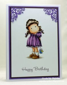 Tilda With A Small Gift by Delphinesplace - Cards and Paper Crafts at Splitcoaststampers