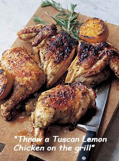 Lemon Chicken Barefoot Contessa's Tuscan Lemon Chicken on the grill is gorgeous -- and ideal for H-Burn (serve 4 oz. meat per person).Barefoot Contessa's Tuscan Lemon Chicken on the grill is gorgeous -- and ideal for H-Burn (serve 4 oz. meat per person). Food Network Recipes, Cooking Recipes, Healthy Recipes, Cookbook Recipes, Lemon Recipes, Cooking Videos, Turkey Recipes, Chicken Recipes, Recipe Chicken