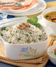 Mutter Pulao ( Microwave Recipe ) recipe | by Tarla Dalal | Tarladalal.com | #33908