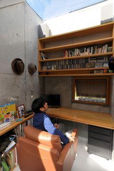 「すごいリラックスできる」という書斎スペース。「音楽聴いたり、本を読んだり、お酒飲んだりとかで楽しんでいます」