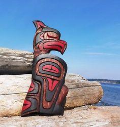 Totem Pole Art, Tiki Totem, American Indian Art, Native American Art, Native American Totem Poles, Arte Haida, Native Canadian, Inuit Art, Tlingit