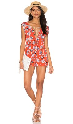 MINKPINK Floating in The Tropics Romper in Multi | REVOLVE