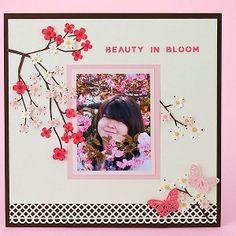 Japanese Cherry Blossom Layout....scrap book page idea