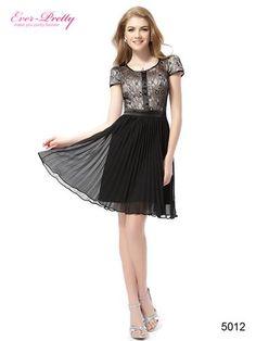 Short Sleeve Halter Black Lace Short Casual Dress