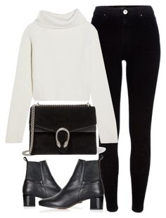 """""""Untitled #5922"""" by laurenmboot ❤ liked on Polyvore featuring River Island, Haider Ackermann, Topshop and Gucci"""