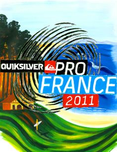 2011 Quiksilver Pro France. Collaboration by David Carson and George Bates