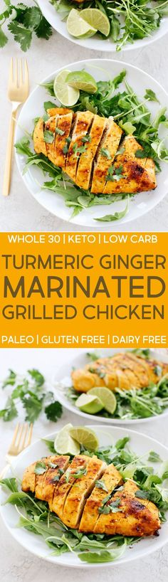 Marinated Turmeric Ginger Grilled Chicken (Whole 30, Paleo, Gluten Free, Dairy Free, Keto, Low Carb) #whole30 #keto #whole30approved