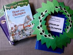 Magic Tree House Adventures Book Club: Hour of the Olympics - Great samples of extra books to read Magic Tree House Lessons, Preschool Scavenger Hunt, Literacy Bags, Greek Crafts, Magic Treehouse, Literature Circles, Book Projects, House Projects, Classroom Themes